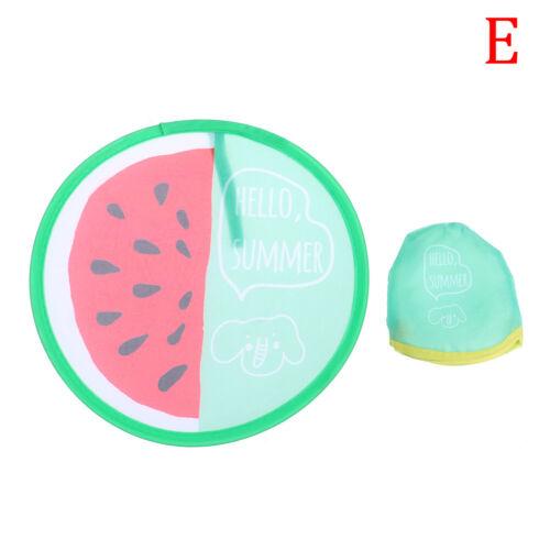 1PC Fruit Round Folding Fan Portable Mini Hand Held Fans Summer Cooling Fan EL