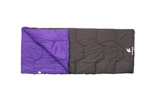 Grey//Purple Kounga Unisex/'s Sleeping Bag Naiguata 10 Large