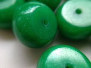 lot 1000 perle de briare BAPTEROSSES ronde lisse vert verte diam 6 mm