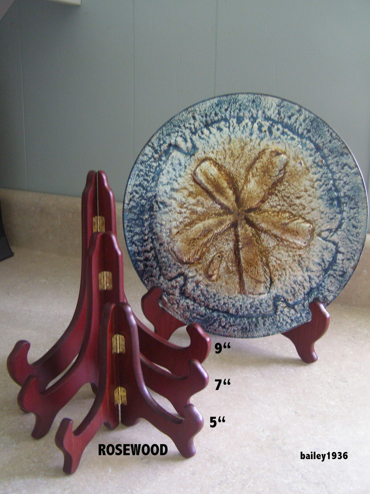"6 EASEL 9/""  WHITE Wood Plate Display Stand Tripar 41139B  SIX PACK QUALITY"