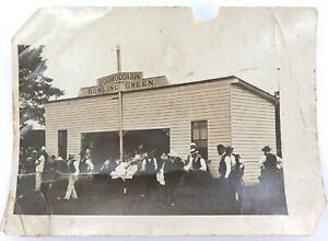 SUPER-RARE-c1902-PHOTO-OF-BOOROODABIN-BOWLS-CLUB-CLUBHOUSE-Brisbane