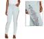 Martha Stewart Petite Embroidered 5-Pocket Ankle Jeans Size 10P Light Blue