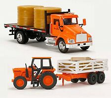 1:43 KUBOTA TOY TRUCK & TRACTOR PLAY SET MOLDED PLASTIC AGES 3+ 77700-03894