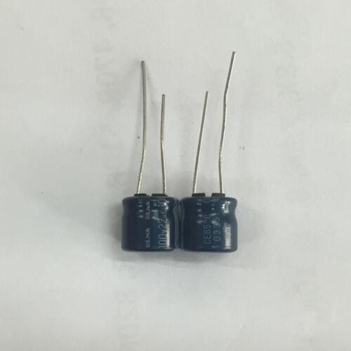 5pcs 100V22uF 10X10 ELNA électrolytique aluminium Condensateur 22uF 100 V pour Audio