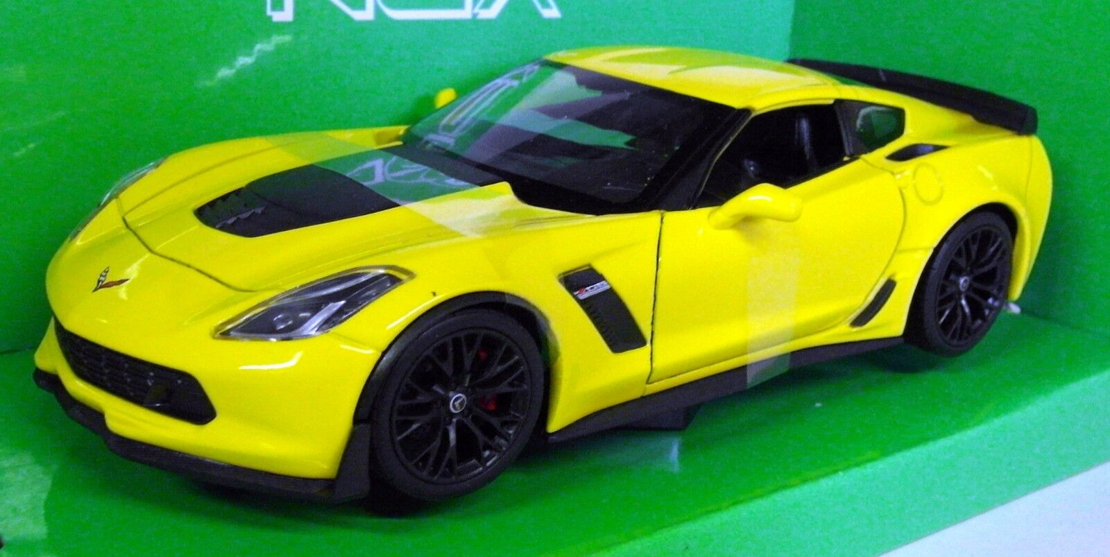 Nex models 1 24 27 27 27 Scale 2017 Chevrolet Corvette Z06 Yellow Diecast model car e927fe