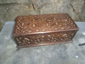 Pleasing Details About Antique Fret Work Designed Mahogany Glove Box Gmtry Best Dining Table And Chair Ideas Images Gmtryco