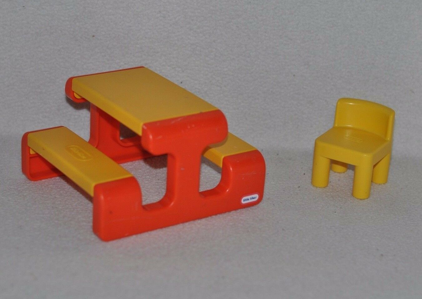 Vintage Little Tikes Dollhouse Furniture Lot Play Ground Picnic Table U0026  Chair