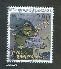 FRENCH POSTAGE - JOYEUX ANNIVERSAIRE STAMP 2,80 LA POSTE FRANCE 1993