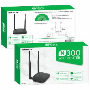 Jetstream-N300-Wifi-Router-2-4GHz-802-11-High-Transfer-Rate-Internet-Ethernet