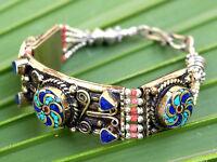 Nepal Tibetan Bracelet Coral Ethnic Boho Gypsy Festival Hippie Turquoise Jewelry