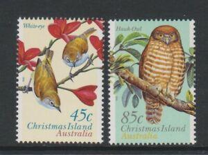 Christmas Island - 1996, Land Birds set - MNH - SG 428/9