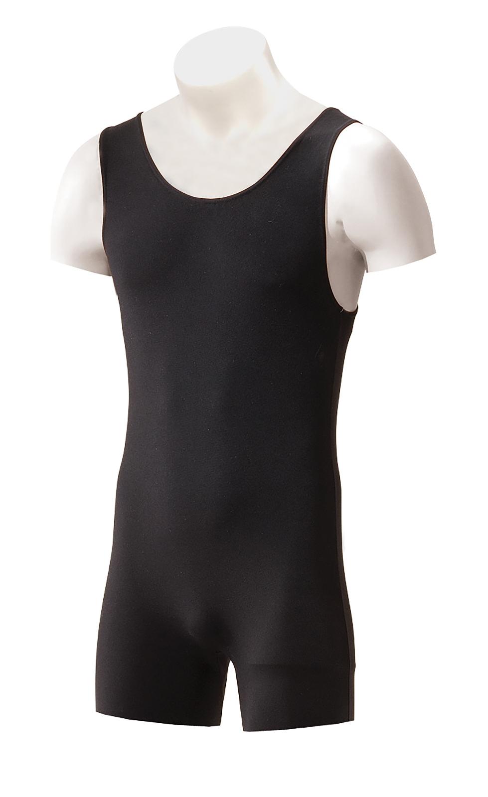 INTERMEZZO Men's and Boy's Dance Tank Style Short Unitard Cotton/Elastane Black