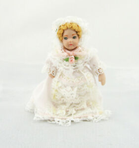 Victorian-Girl-doll-for-Dolls-House-or-Collection-Porcelain-and-Bendable