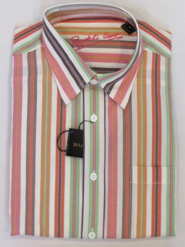 RETAIL $99 PICK A SIZE NEW MEN'S BUGATCHI UOMO CLASSIC FIT L//S COTTON SHIRT