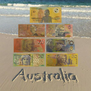 WR-24K-Gold-Foil-Colored-Australia-Banknote-Set-5-100-Dollar-Lot-Collection