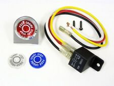 UNIVERSAL CAR TRUCK PUSH BUTTON START IGNITION ENGINE SWITCH KIT BLUE RED 12V