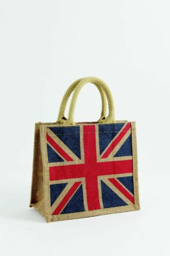 Small Natural Jute Hessian Bag various colours available