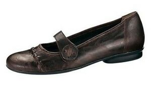 5 Slipper 36 Leather pelle Gr Gabor in marrone New Shoes Sottopiede Uk4 Ladies Ballerina wgSE0qx