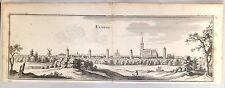 Antique view Elburg Gelderland Netherland Holland Merian 1659