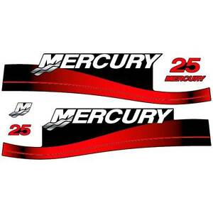 Mercury Pro XB 225 outboard decal aufkleber adesivo sticker set