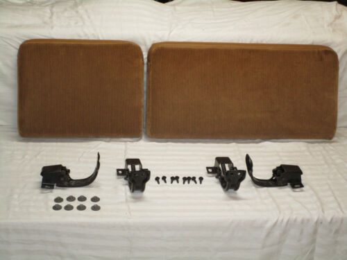 87-96 DODGE DAKOTA EXTENDED CAB CAMEL TAN CLOTH REAR FOLD DOWN SEATS /& HINGES