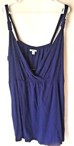 Womens-Top-Old-Navy-Blue-Camisole-style-knit-sleeveless-size-3X-Plus