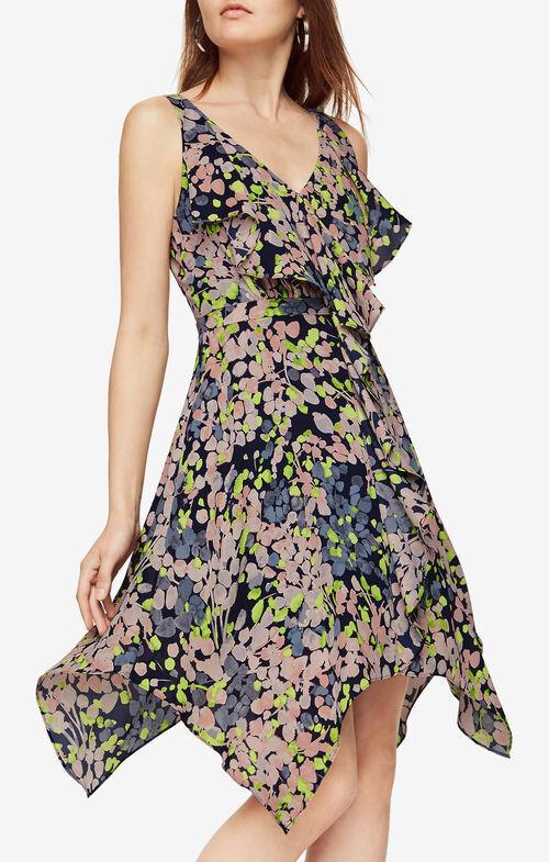 NWT BCBG MAXAZRIA Jessica Floral-Print Dress DARK MIDNIGHT COMBO Size 0