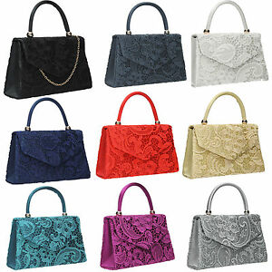 Women-Kendall-Satin-Lace-Envelope-Ladies-Evening-Party-Prom-Bridal-Clutch-Bag