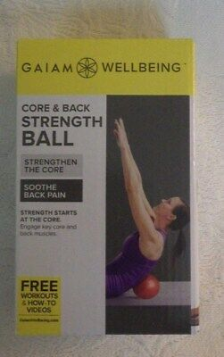 Gaiam Wellbeing CORE /& BACK STRENGTH BALL Spine Support Exercise Fitness