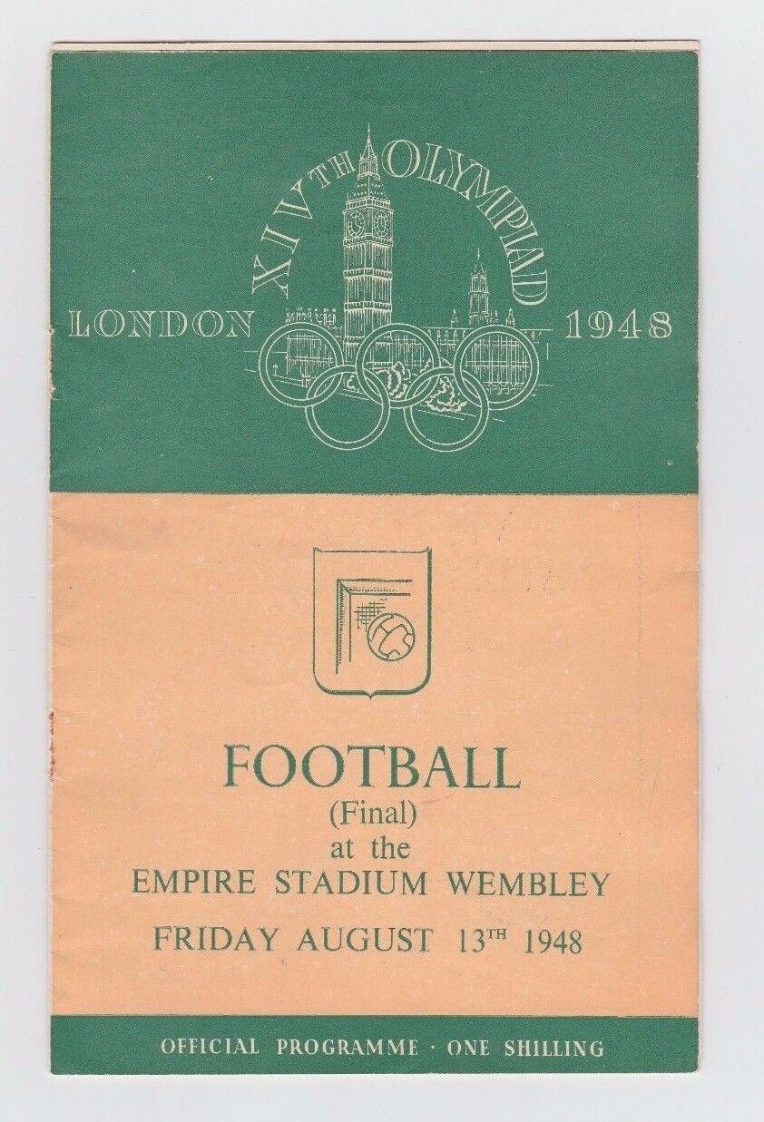 Orig.PRG  Olympische Spiele LONDON 1948  Fussball FINALE  JUGOSLAWIEN - SCHWEDEN