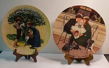 EASTER and VALENTINE'S DAY   SET OF TWO PLATES   AMERICANA HOLIDAYS COLLECTION