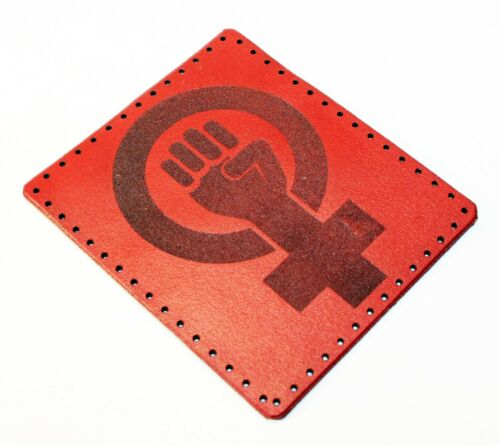 leather patch Womans Rights, Feminist sign Feminism patch Feminism gift