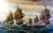 Batalla de Virginia Cape imagen de barco de vela arte cartel impresión del océano barcos A3