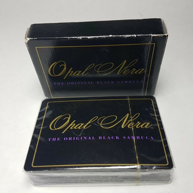 Playing Cards OPAL NERA Black Sambuca SEALED Package in Box CANADA