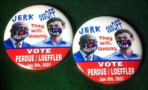Anti-John-ossoff-Warnock-Georgien-Senat-Race-Button-034-Jerk-ossoff-034-2-Pin-Set