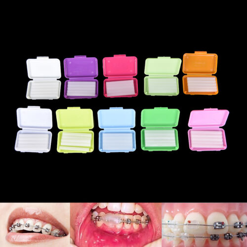 2 Paquetes de cera dental para ortodoncia Ortho aroma de frutas de tirantes Goma irritationhc
