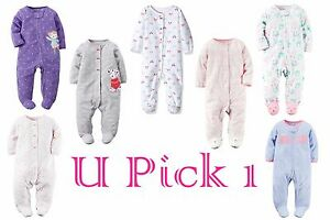 d4f194946 Sleep Play Carters Fleece Girls Sleeper Warm Outfit Footed Pajamas ...