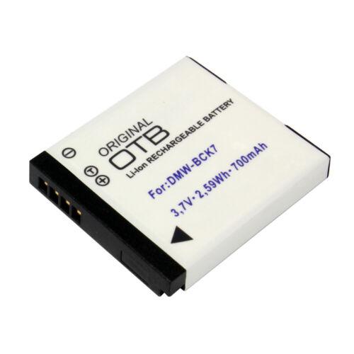 BATERIA para Panasonic Lumix dmc-sz1 dmw-bck7 700mah reemplaza