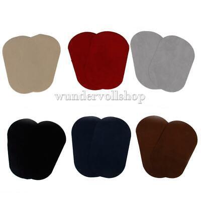 2Pcs Bügelflicken Aufbügel Flicken Bügelsticker Oval Form 18x11cm 6 Farben