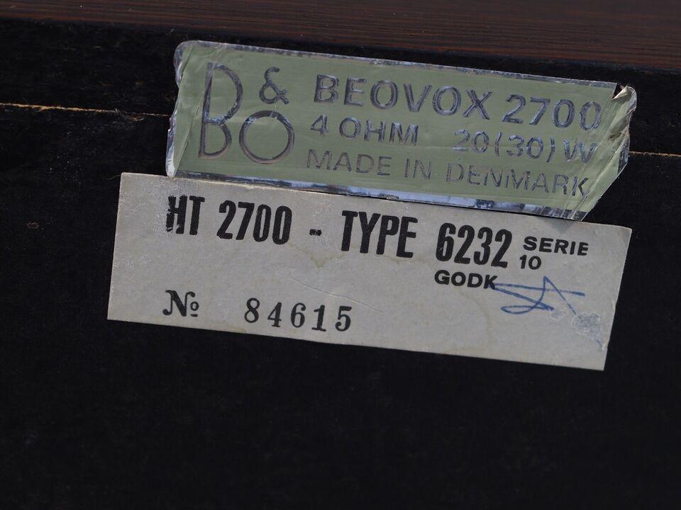 Højttaler, Bang & Olufsen, Beovox 2700