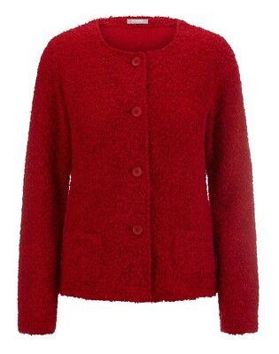 Rabe Damen Cardigan/strickjacke In Rot In Leichtem Bouclé Spezieller Kauf