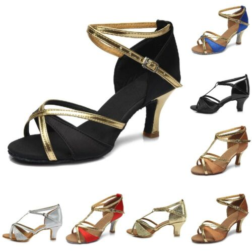 New Dance Shoes Latin Ballroom Lace Up Buckle Professional Tango and Salsa Shoes