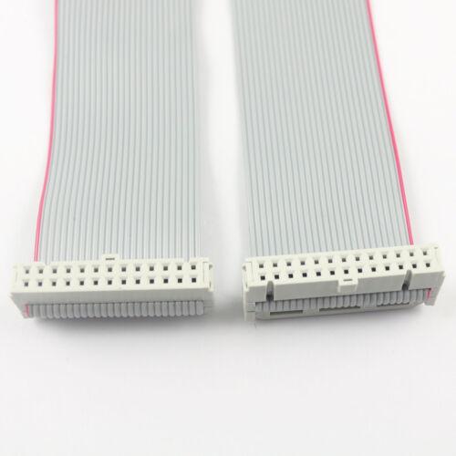 Paso de 2Pcs 2.54mm 2x13 Pin 26 Pin Conector Plano de 26 Hilos desplazamiento del aislante Cinta Cable Longitud 20CM