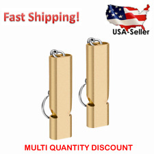 Hiking for Outdoor and Dog Training. Sports Premium Whistle with Lanyard and Keychain jrceliy 2PCS Brass Emergency Whistle Camping
