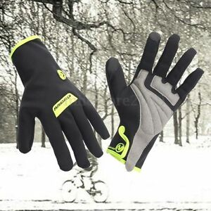 Winter Bike Bicycle Motorcycle Cycling Waterproof Touchscreen Full Finger Gloves