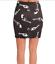 American-retro-carolyn-skirt-gonna-nuovo-aderente-stretch-w30-tg-44-nero-T3887