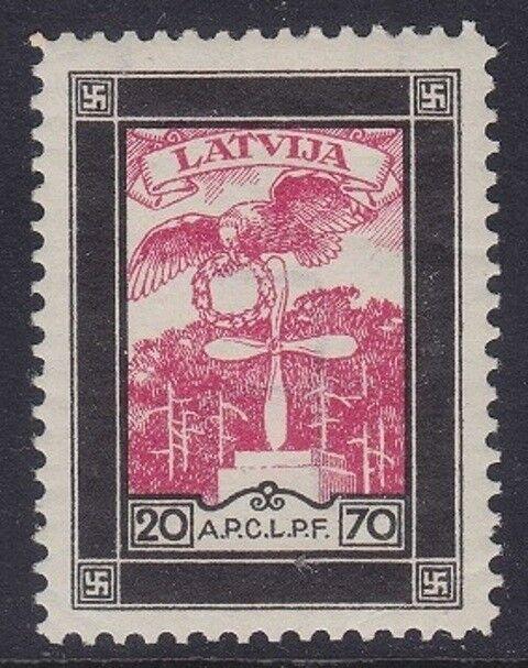 LATVIA 1933 - PRO CADUTI AVIAZIONE - S. 20 - MH