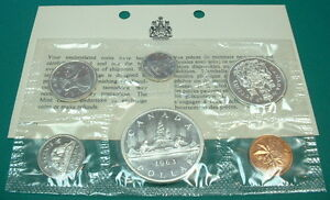 CANADA-1963-PROOF-LIKE-SET-SILVER-6-COINS