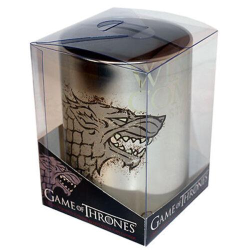 Ikon NEW Game of Thrones Stark Winter Logo Metal Can Cooler Stubby Holder