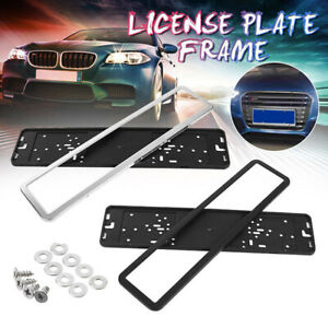 Universal Car License Plate Holder Frame European UK EU German Russian Black //